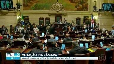 Câmara de Vereadores aprova cinco projetos de autoria de Marielle Franco - Um sexto projeto teve a votação adiada
