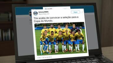 Após bom resultado contra o Cerro Porteño, torcida pede que Tite convoque o Grêmio - Assista ao vídeo.