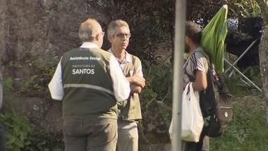 Serviço de abordagem a moradores de rua usuários de drogas é retomado em Santos - Objetivo é dar chance para quem quer se reerguer.
