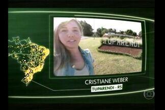 Uma moradora de Tuparendi foi destaque no Jornal da Globo - Ela mandou um vídeo sobre os desejos para o Brasil.