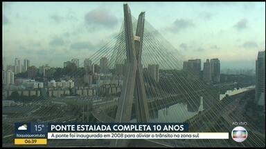 Aniversário da Ponte Estaiada - Um dos cartões postais da cidade de São Paulo completa 10 anos. A ponte foi inaugurada em 2008.