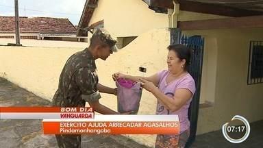 Militares de Pinda arrecadam agasalhos - Trabalho é para a Campanha do Agasalho.