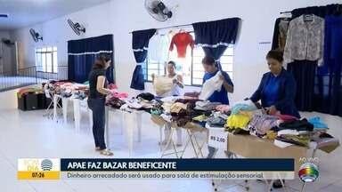 Apae de Presidente Prudente realiza bazar beneficente - Dinheiro será usado para a criação de uma sala de estímulo sensorial.