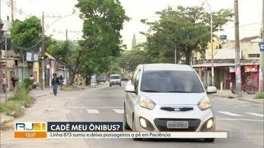 Mais uma linha de ônibus sumiu na Zona Oeste - Linha 873 Paciência-Campo Grande parou de circular. Empresa alega que ruas esburacadas impedem a circulação.