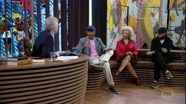 Hélio Santos e Emicida falam sobre conquista de direitos - Bial apresenta poema de Joaquim Nabuco musicado por Caetano Veloso