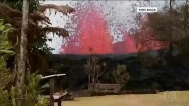 Governo do Havaí alerta para retirada em massa por conta da erupção do vulcão Kilauea - A lava já devastou uma área equivalente a 80 campos de futebol e os geólogos acham que o Kilauea está entrando numa nova fase de erupções.