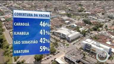 Saiba como vai ser o Dia D da vacinação no litoral norte - Repórter Pedro Melo sobrevoa a região.