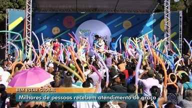Bem Estar Global reúne milhares de pessoas na Praça Cívica, em Goiânia - Apresentadora Mariana Ferrão fez a festa junto com Thiago Brava.
