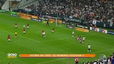 Vitória é eliminado da Copa do Brasil após perder partida contra o Corinthians - O jogo aconteceu na Arena Corinthians, em São Paulo.