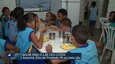 Bazar arrecada doações para lar que promove aulas a crianças e adolescentes - Ação arrecada fundos para conserto do teto do Lar Ceci Costa, em Salgadinho, em Olinda
