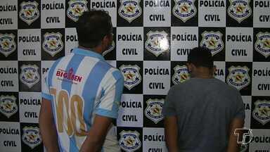 Pai e filho suspeitos de assalto já estão na Penitenciária de Cucurunã - Eles foram presos na manhã desta sexta-feira (11), suspeitos de envolvimento em um assalto no mês de abril deste ano.
