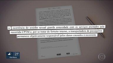 STJ condena CPTM a pagar R$ 20 mil de indenização a uma mulher molestada dentro do trem - Segundo o STJ, é a primeira vez que uma instância superior decide que a empresa de transporte tem que pagar uma indenização à vítima.