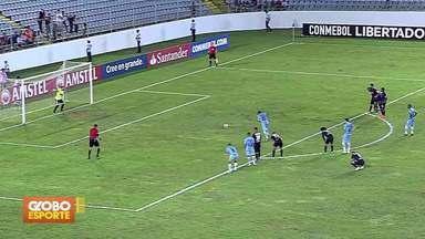 Grêmio vence o Monagas e se classifica para as oitavas da Libertadores - Gaúchos saem na frente, levam o empate, mas conseguem a vitória aos 51 minutos do segundo tempo.
