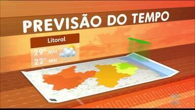 Veja a Previsão do Tempo para esta quarta-feira - Confira a previsão do tempo em João Pessoa e Campina Grande.
