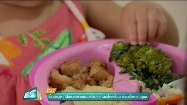 Crianças estão com mais sobrepeso devido à má alimentação no Sul do ES - Nutricionista explicou situação.