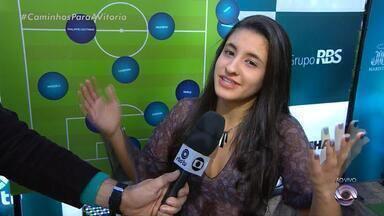 Telespectadora escala time ideal da Seleção Brasileira para Copa do Mundo - Maria Eduarda destaca que Geromel deve ser titular no lugar de Thiago Silva.