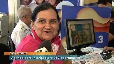 Agehab abre inscrições para 912 apartamentos do Residencial Porto Dourado, em Goiânia - Inscritos vão concorrer ao financiamento das unidades, com parcelas a partir de R$ 385. Podem participar famílias com renda de até R$ 2,6 mil.