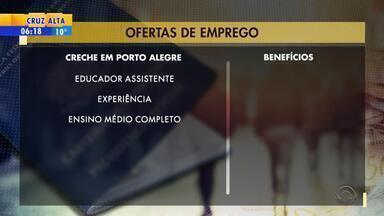 Empregos: creche em Porto Alegre seleciona educador assistente - Veja mais detalhes.