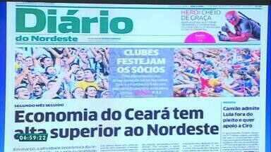 Confira a capa do 'Diário do Nordeste' nesta quinta-feira (17) - Saiba mais em g1.com.br/ce