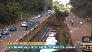 Trecho da Marginal Botafogo entre a Anhanguera e a Independência é liberado, em Goiânia - Agora, nenhum ponto da via expressa está com interdição total.