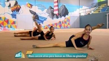 Mães de ginastas relatam sacrifícios pela rotina dos filhos, no ES - Elas se viram para bancar custos das viagens e competições.