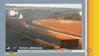 Rodovia Dom Pedro terá novo acesso no sentido Jacareí nesta sexta-feira - O trecho fica nas proximidades da Rodovia Adhemar de Barros, a Campinas-Mogi