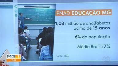 Minas Gerais tem pouco mais de 1 milhão de analfabetos acima de 15 anos, diz Pnad - O resultado da Pesquisa Nacional por Amostra de Domicílios (Pnad) foi divulgado nesta sexta-feira.