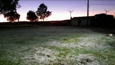 Temperaturas abaixo de 0°C são registradas em várias cidades do Brasil - O frio chegou com força em boa parte do país, com geada e temperaturas negativas. O frio foi intenso em São Paulo, no Mato Grosso do Sul, em Santa Catarina e no Paraná.