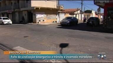 Moradores seguem cobrando sinalização em cruzamento em Campinas - Quem mora ou tem comércio na região dizem que é perigoso trafegar pelo local.