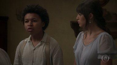 Estilingue briga com Tenória por ter mentido - Ema tenta acalmá-lo, mas ele diz que nunca perdoará a mãe
