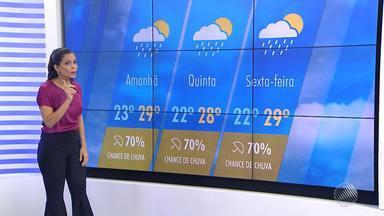 Salvador deve ter pancadas de chuva isoladas nesta quarta-feira (23); confira a previsão - Saiba também como ficarão as temperaturas na capital baiana.