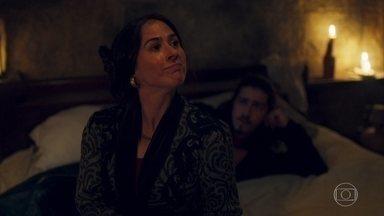 Lucrécia não aceita dividir a cama com Rodolfo - Todos reclamam da falta de água, comida e acomodações da casa de Timóteo