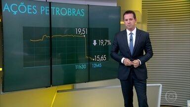 Após demissão de Pedro Parente, ações da Petrobras despencaram - Pedro Parente assumiu a Petrobras em um período em que a estatal estava com as bolsas em queda. As negociações e os desdobramento da greve fizeram aumentar o receio de intervenção nos preços da empresa.