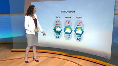 Tempo: pode chover na maior parte do RS na terça-feira (5) - Assista ao vídeo.
