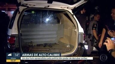 Polícia apreende fuzis na região de Ribeirão Preto - Suspeita é de que as armas eram usadas em assaltos a carros-forte