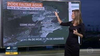 Pode faltar água em parte da Zona Sul e do Rio Comprido - Cedae faz obra na região.