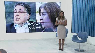 Casal Garotinho mantém silêncio durante audiência de interrogatório no fórum de Campos - Assista a seguir.