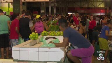 Desabastecimento em supermercados leva consumidores à feira do produtor - Na feira do Buritizal, a movimentação foi intensa nesta terça-feira (5). Porém, mesmo nesse local os preços apresentam elevação nos preços.