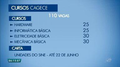 Cagece oferece vagas em vários cursos de qualificação - Saiba mais em g1.com.br/ce
