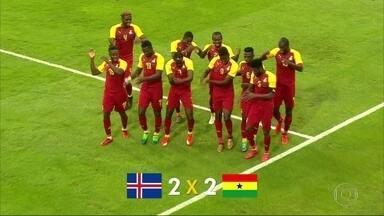 Seleção da Islândia empata com Gana em amistoso antes da Copa do Mundo - Seleção da Islândia empata com Gana em amistoso antes da Copa do Mundo