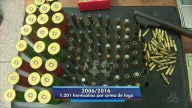 Dados divulgados pelo Atlas da violência em 2018 - Estudo mostra que a maioria dos homicídios no Amapá é provocada por armas de fogo, só neste ano, 159 foram retiradas de circulação pela Polícia Militar