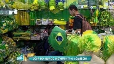 Chegada da Copa do Mundo aumenta as vendas e anima os comerciantes da Grande Vitória - Copa do Mundo começa na próxima quinta-feira.