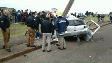 Grave acidente mata ciclista em Arapongas - Segundo a polícia o motorista estava bêbado