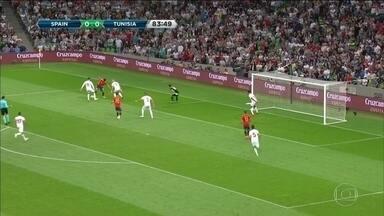 Espanha e França fazem últimos amistosos antes da Copa do Mundo da Rússia - Espanhóis vencem Tunísia com gol no fim e franceses empatam com EUA sob vais da torcida