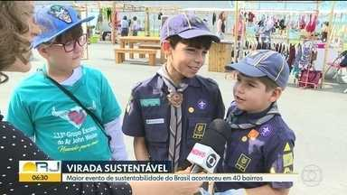 Virada Sustentável leva atividades a 40 bairros do Rio - Evento é o maior de sustentabilidade no Brasil.