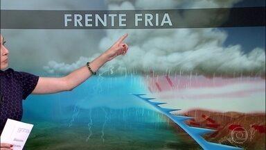 Previsão é de mudança de tempo severa no Sul do país - A previsão é de chuva forte, raios, rajadas de vento e granizo no Rio Grande do sul.
