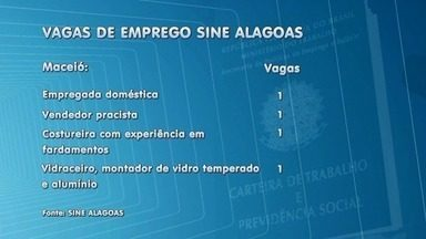 Sine abre vagas de emprego para Maceió e Arapiraca - Boa oportunidade para quem deseja entrar ou voltar para o mercado de trabalho.