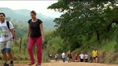 Caminhada ecológica e plantio de árvores acontece em Cachoeiro, ES - Nascente do Córrego Amarelo ganhou novas árvores.