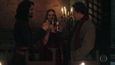 Afonso e Amália conversam com Gregório - Eles estão preocupados com o conselho da Cália