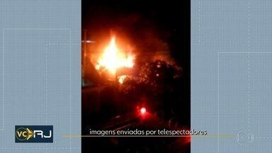 Incêndio atinge casa em São Gonçalo - Ninguém ficou ferido.